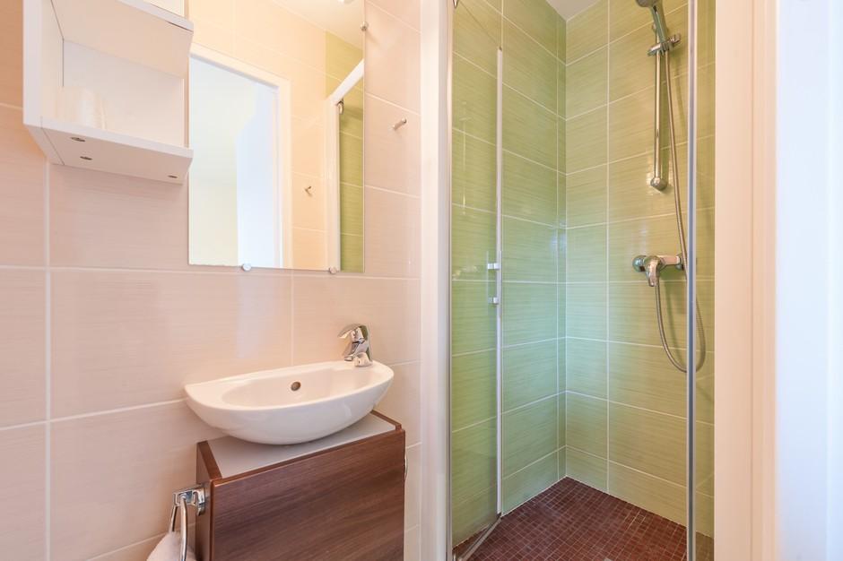 Petite salle de douche chambre standard